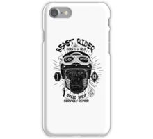 Beast Rider Vintage Motorcycle Cafe Racer logo [Black] iPhone Case/Skin