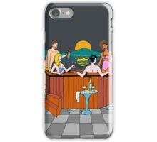 Moonlight hot tub evening iPhone Case/Skin