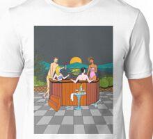 Moonlight hot tub evening Unisex T-Shirt