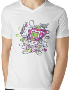 Game Boy - Old School Mens V-Neck T-Shirt