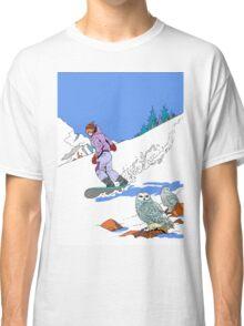 Snowboarding past Owls Classic T-Shirt