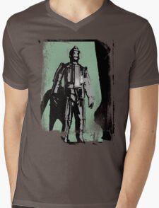 Cyberman (distressed) Mens V-Neck T-Shirt