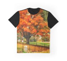 Fall on Cemetery Road Graphic T-Shirt