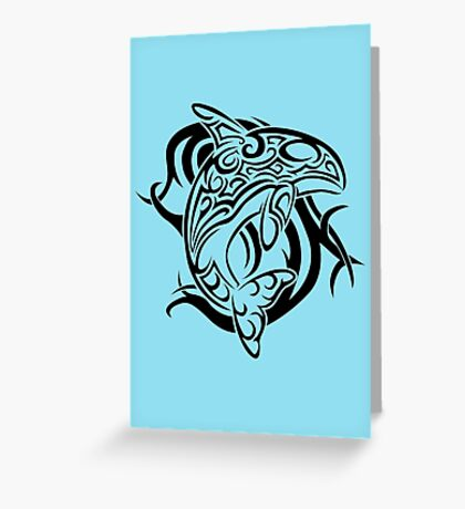 Tribal Orca Greeting Card