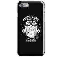 Beast Rider Vintage Motorcycle Cafe Racer logo [White] iPhone Case/Skin