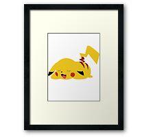 Sleepy Pikachu Framed Print