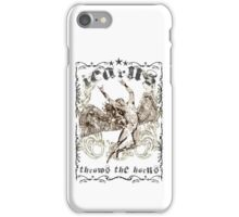 ICARUS THROWS THE HORNS - extreme distress t-shirt design iPhone Case/Skin