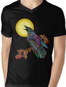 Electric Crow Mens V-Neck T-Shirt