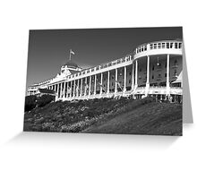 Grand Hotel 2 BW Greeting Card