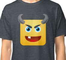 Devil Zombie Emoji Emoticon Halloween Smiley Face  Classic T-Shirt