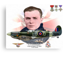Sqn. Ldr. Pierre Clostermann Canvas Print
