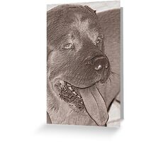 abstract dog Greeting Card