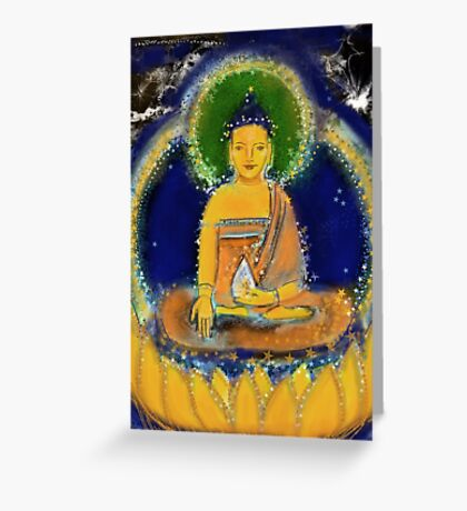 Ratnasambhava - yellow Buddha of the south Greeting Card