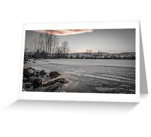 Iced Sunset Greeting Card