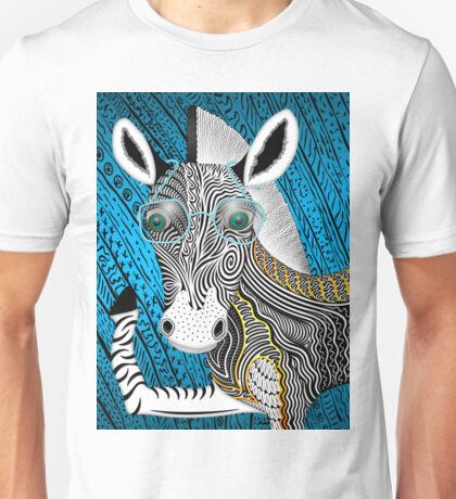Portrait Of The Artist As A Young Zebra Unisex T-Shirt