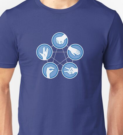 Rock Paper Scissors Lizard Spock Unisex T-Shirt