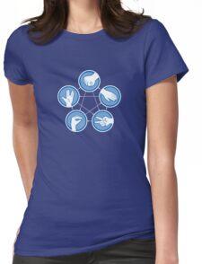 Rock Paper Scissors Lizard Spock Womens Fitted T-Shirt