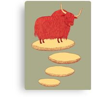Yak and Stepping Stones Canvas Print