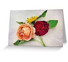 Sunflower and Roses Watercolor Greeting Card