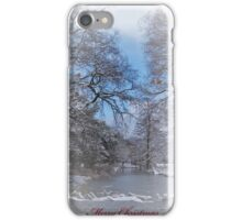 Merry Christmas card iPhone Case/Skin