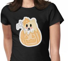 Cute hamster in a  Pumpkin  Womens Fitted T-Shirt