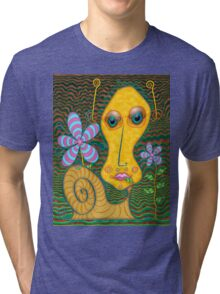 Portrait of the Artist as a Young Snail Tri-blend T-Shirt