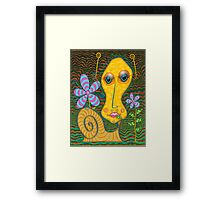 Portrait of the Artist as a Young Snail Framed Print