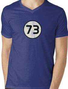73 Sheldon Distressed Mens V-Neck T-Shirt