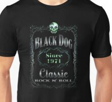 BOTTLE LABEL - black dog Unisex T-Shirt