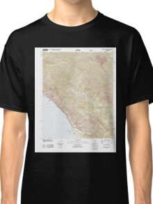 USGS TOPO Map California CA Burro Mountain 20120323 TM geo Classic T-Shirt
