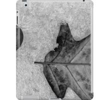 Beach Stone and Leaf in Snow BW iPad Case/Skin