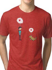 DOG LOVE Tri-blend T-Shirt