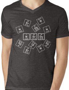 Nerdy Periodically (White) Mens V-Neck T-Shirt