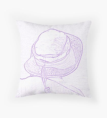 people on the beach Throw Pillow