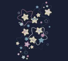 Cute Crazy Pastel Night Stars Kids Tee