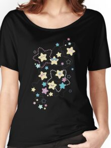 Cute Crazy Pastel Night Stars Women's Relaxed Fit T-Shirt