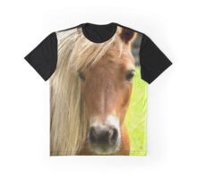 Portrait of a beautiful curious horse Graphic T-Shirt