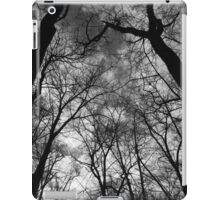 Tall Trees in Spring 2 BW iPad Case/Skin