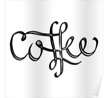 Coffee Lettering Poster