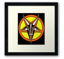 CANDY CORN BAPHOMET Framed Print