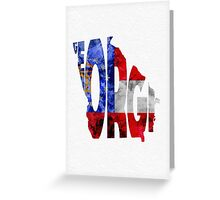 Georgia Typographic Map Flag Greeting Card