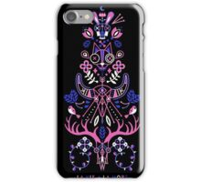 La Vie & La Mort – Pink & Periwinkle on Black iPhone Case/Skin