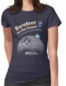 Doctor Who: Barefoot on the Moon Redux Womens Fitted T-Shirt