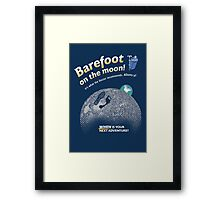 Doctor Who: Barefoot on the Moon Redux Framed Print
