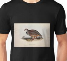 John Gould The Birds of Europe 1837 V1 V5 260 Red Legged Partridge Unisex T-Shirt