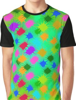 Abstract color blot pattern Graphic T-Shirt