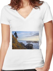 Abalone Cove - 1 Women's Fitted V-Neck T-Shirt