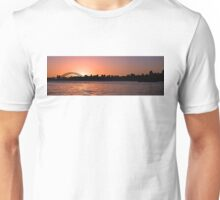 Sydney Harbour Sunset Silhouette Panorama. Prints, Gifts, and Apparel. Unisex T-Shirt