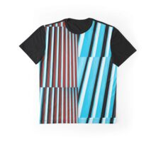 Blue and Red Bars  Graphic T-Shirt