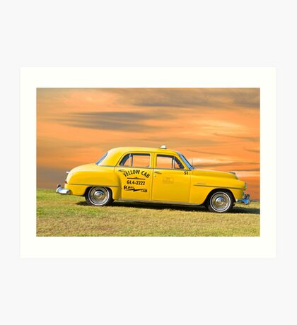 1951 Plymouth Sedan 'Yellow Cab' Art Print